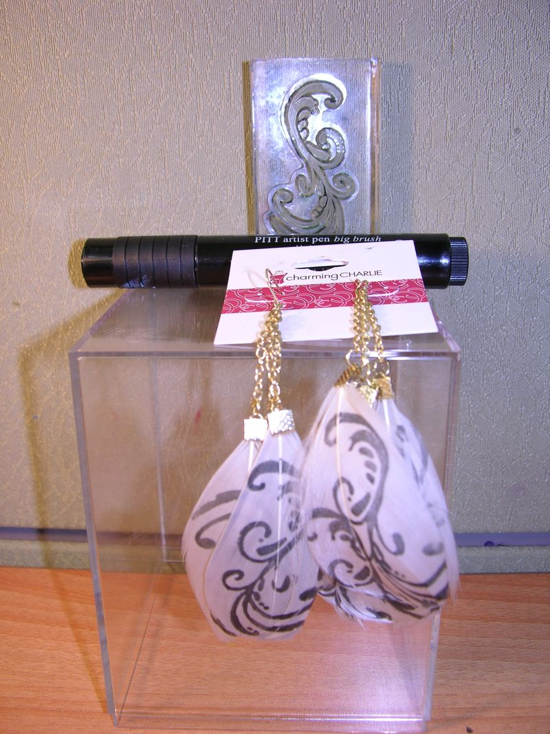 Feather earring2