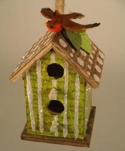Pistachio birdhouse