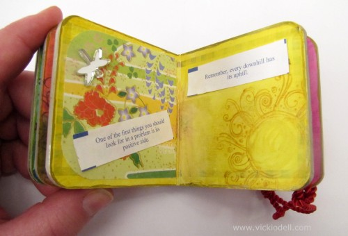 Mini Mixed Media Art Book With Fortune Cookie Fortunes Part 2