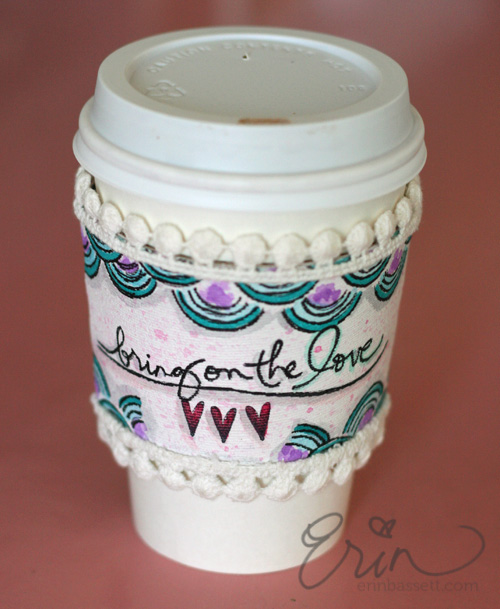 Mixed Media Coffee Sleeve 2
