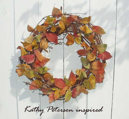 Kathy Peterson Inspired fall fabric wreath WS