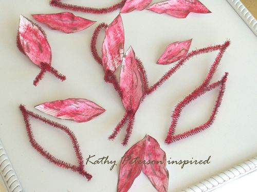 Kathy Peterson inspired step 3 paper poinsettia