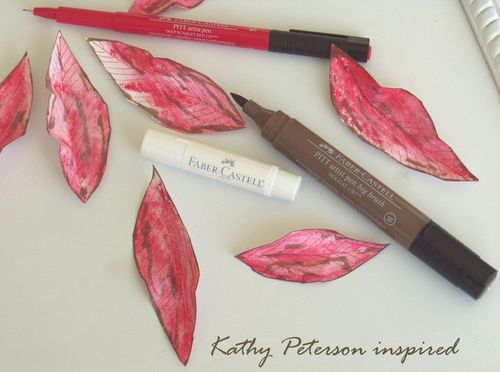 Kathy Peterson inspired step 2 paper poinsettia