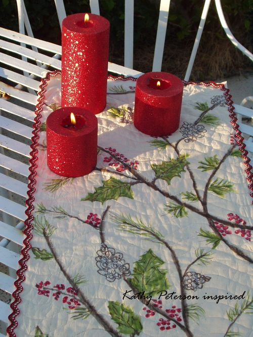 Kathy Peterson inspired DIY Holiday Table Runner