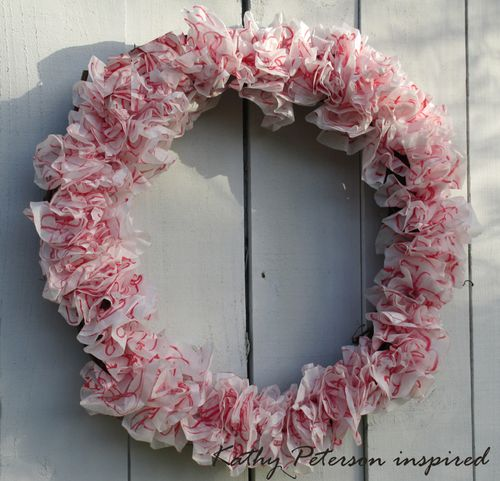 Kathy Peterson Inspired Christmas Wreath