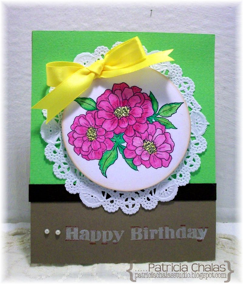 Aquarelle Birthday Card Faber Castell Design Memory Craft