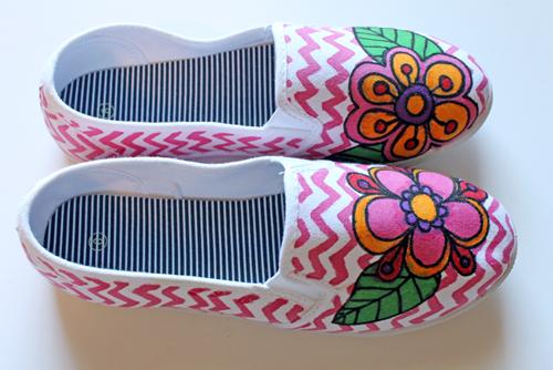 Doodled shoes
