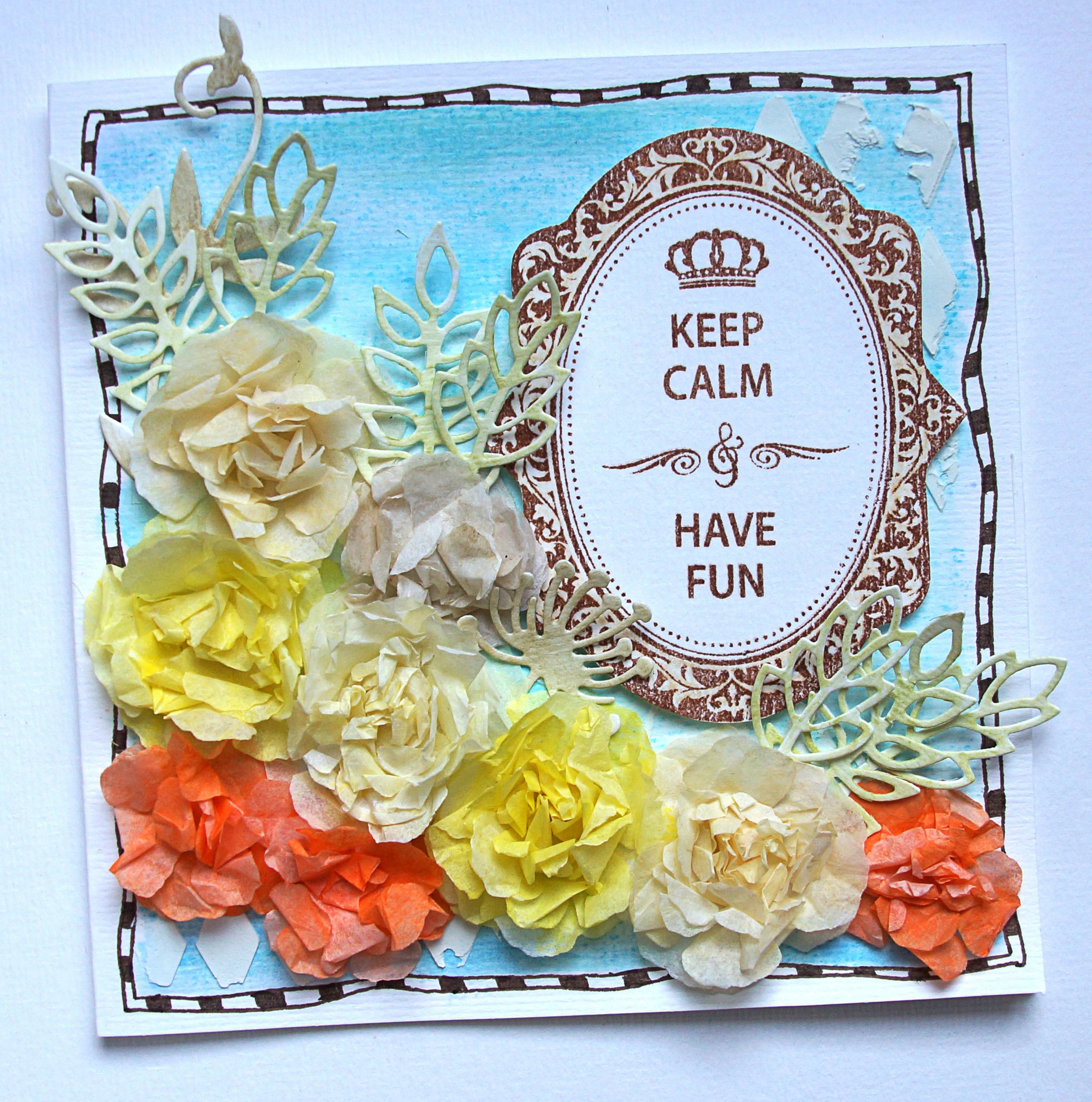 Paper Flowers Using Gelatos And Tissue Paper Faber Castell Design