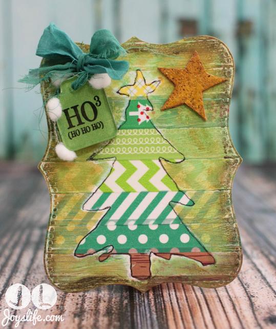 Christmas Tree Tag with Joys Life Stamps w