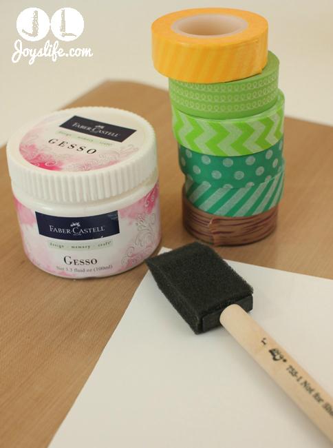 Washi tape gesso supplies w