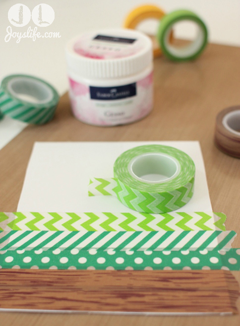Washi tape onto chipboard w