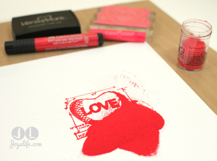 Love Note Embossing