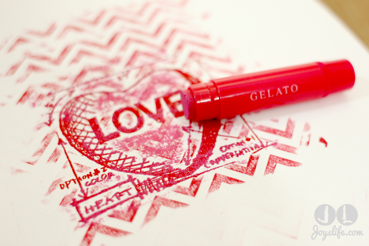 Love Note adding Gelato w