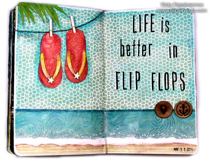 Art journal flip flops