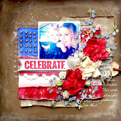 Patriotic Layout by Tonya Gibbs