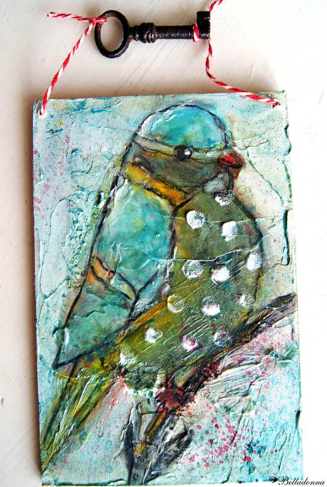 Bird from a colouring book