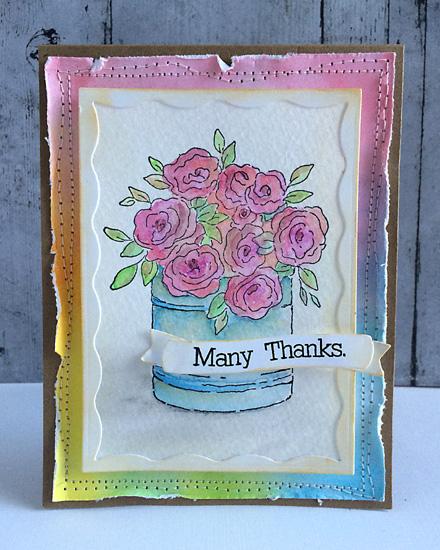 Many thanks card by Daniela Dobson
