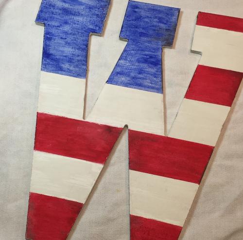 Stripes added