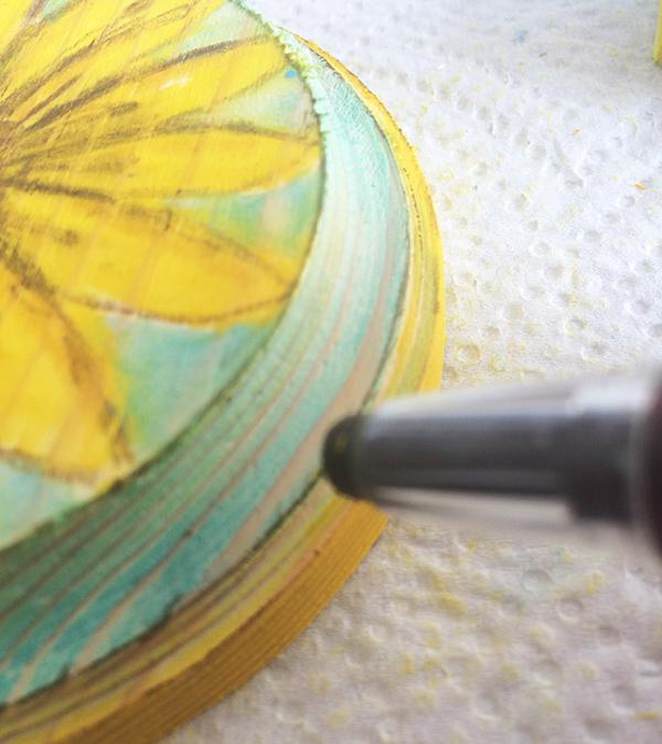 Sunflower Step Five