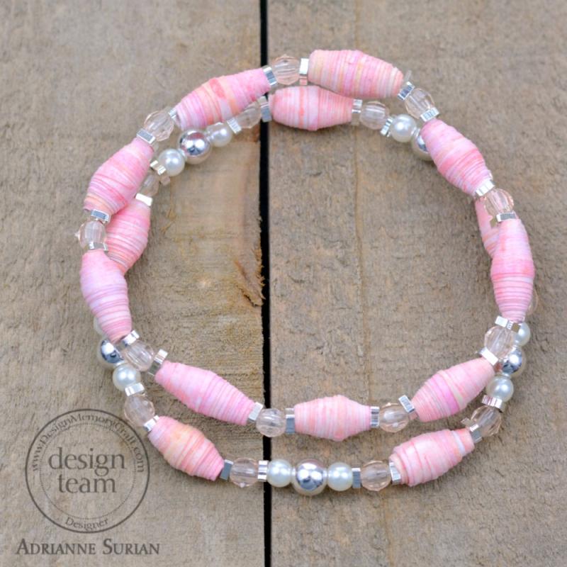 Guava Paper Bead Bracelet 5.1