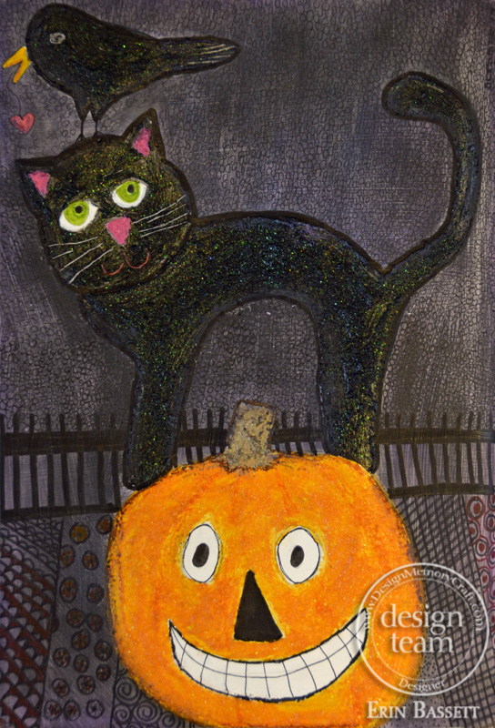Black Licorice Gelatos - Halloween Art Journal