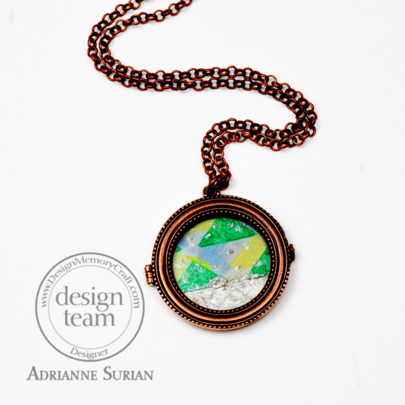 Geometric Trees Winter Locket 3