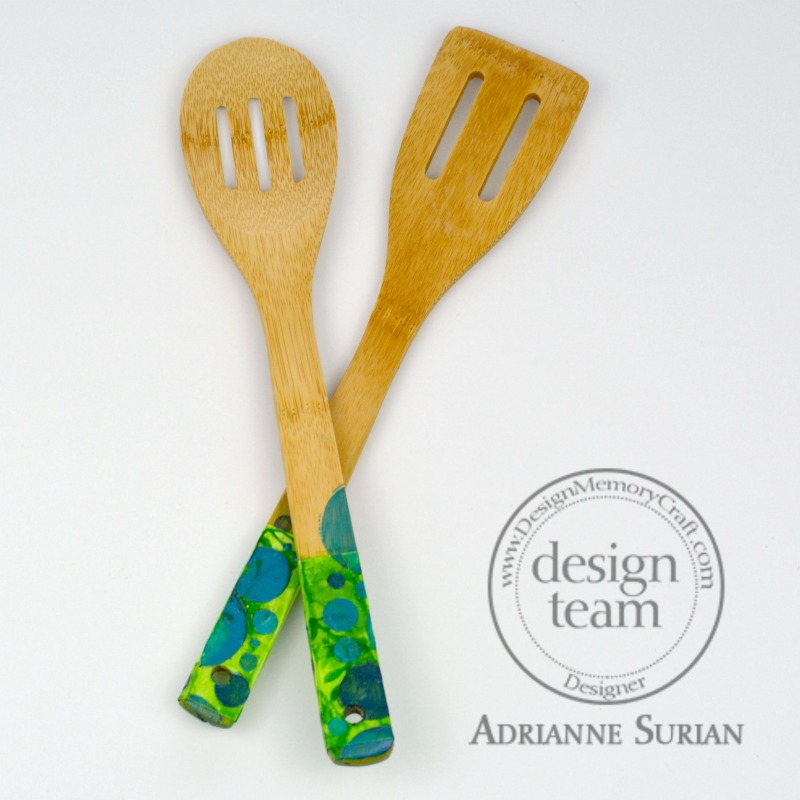 Painted Wood Spoons 6