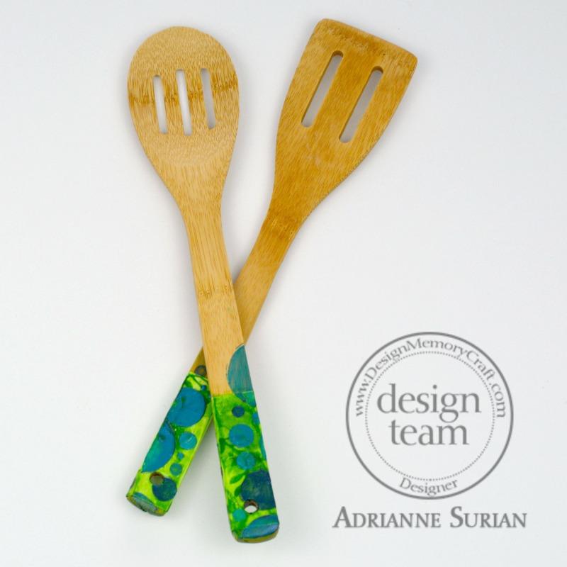 Painted Wood Spoons 6