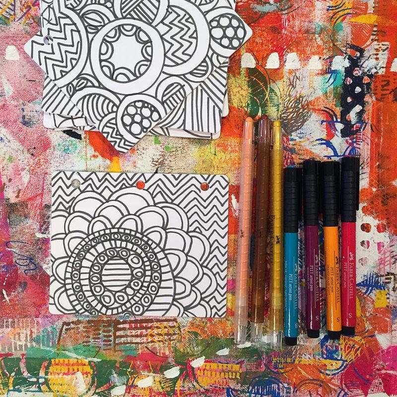 4 - Lynn K DIY coloring book markers and crayons