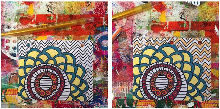 5 - Lynn K DIY coloring book crayons 1
