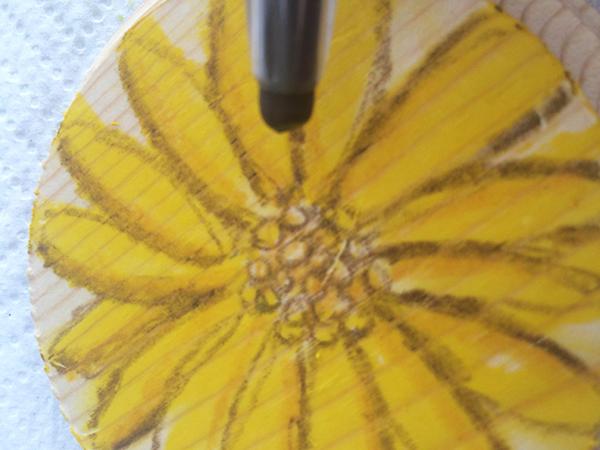Sunflower Step Three