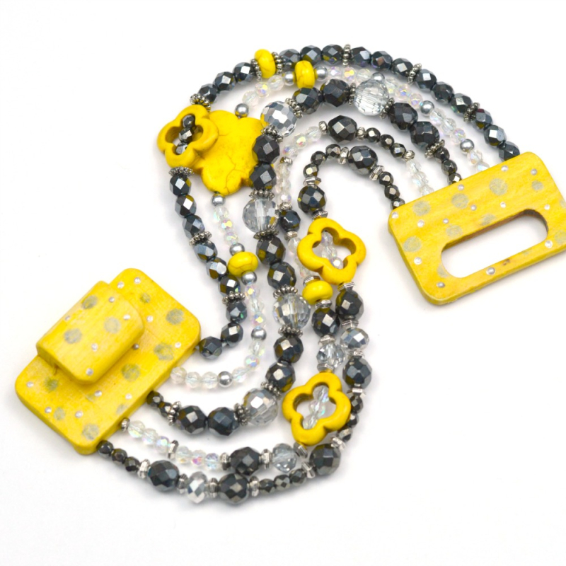 Lemon Yellow + Gray Bracelet 4
