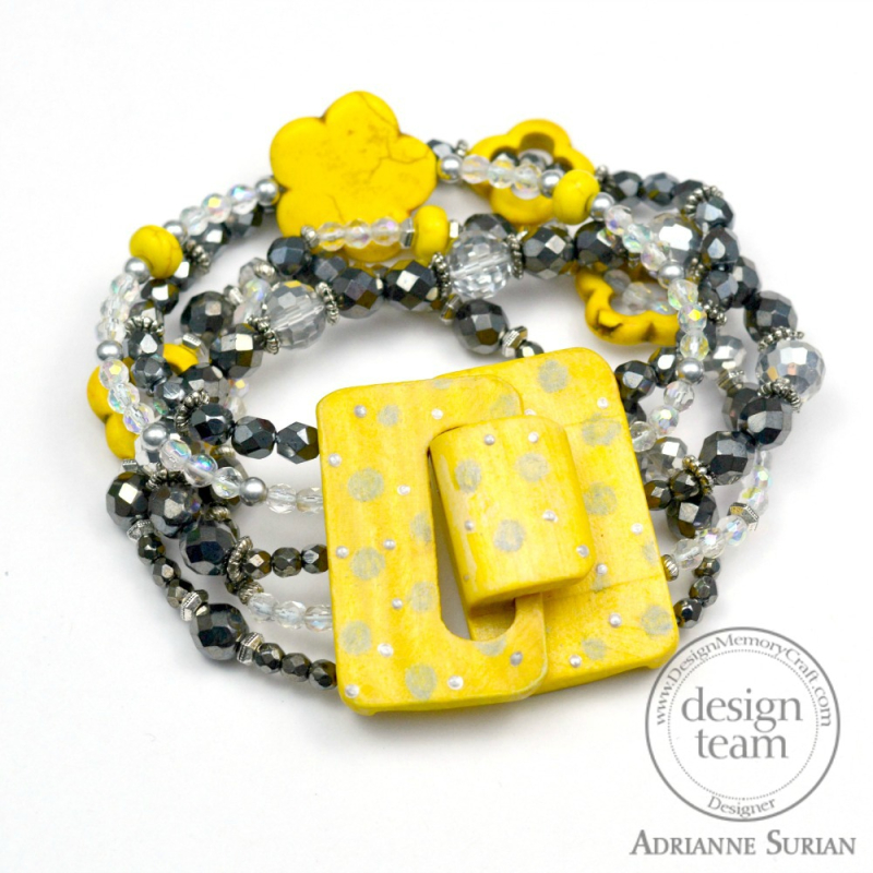 Lemon Yellow + Gray Bracelet 3.2