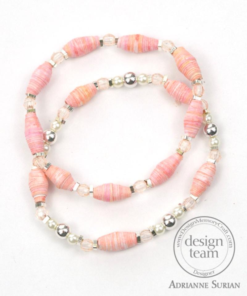 Guava Paper Bead Bracelet 3