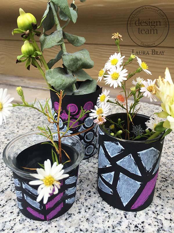 Graphic Bud Vases Beauty Shot