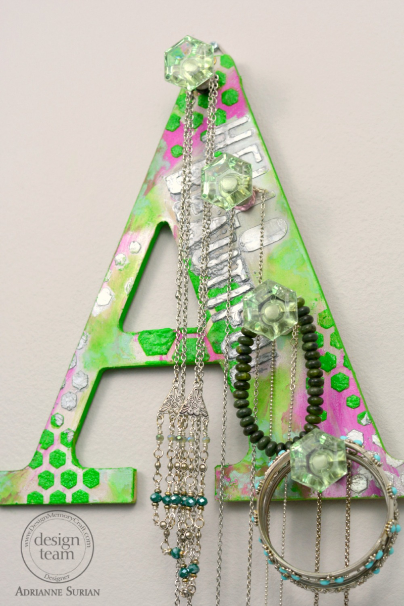 Hello Beautiful Jewelry Rack Featuring Lime Green 11