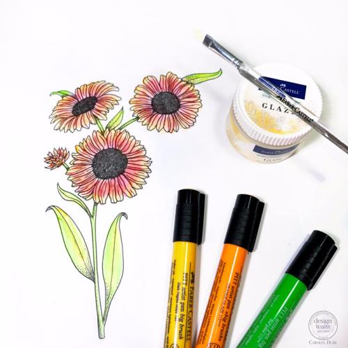 Pitt-pens-glaze-coloring-flower-carolyn-dube-6