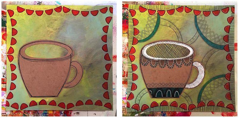 6 - Lynn K adding coffee cup
