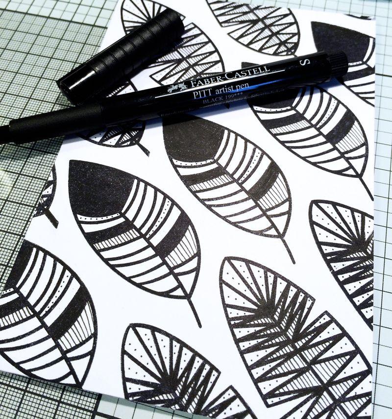 Faber Castell Design Memory Crafts Maya Isaksson October Card