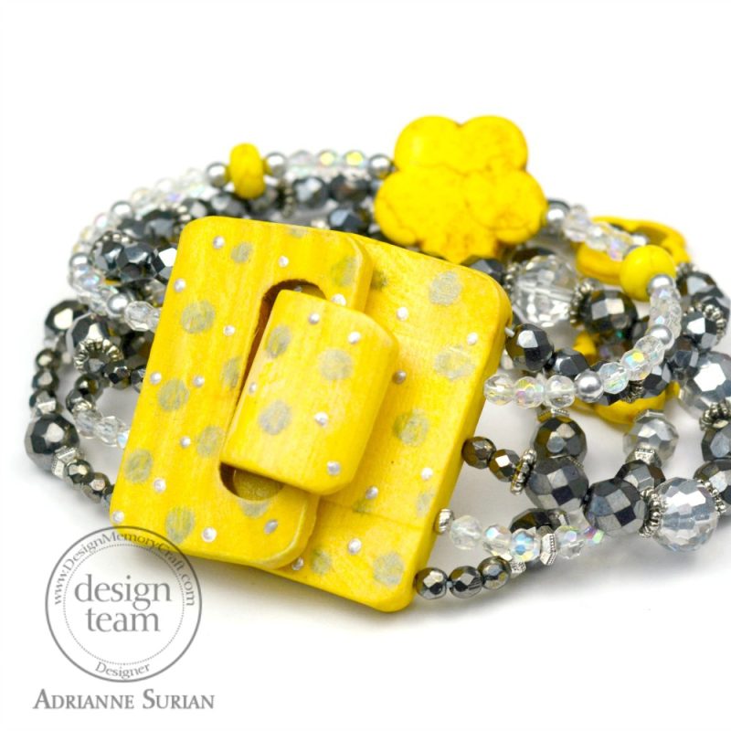 Lemon Yellow + Gray Bracelet 2.2