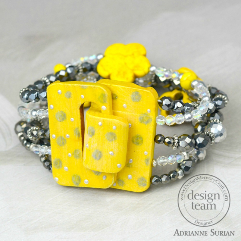 Lemon Yellow + Gray Bracelet 1.2