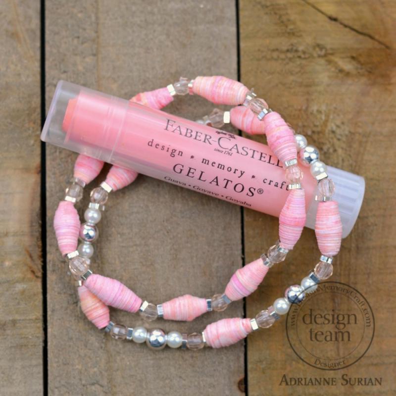Guava Paper Bead Bracelet 1.1