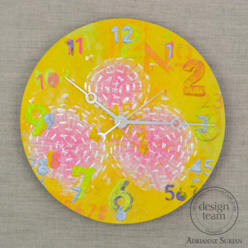 Floral Clock Banana Yellow 2.1