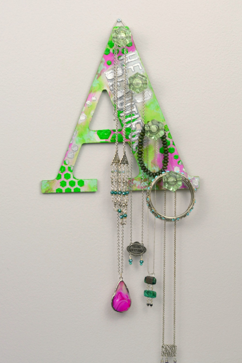 Hello Beautiful Jewelry Rack Featuring Lime Green 10