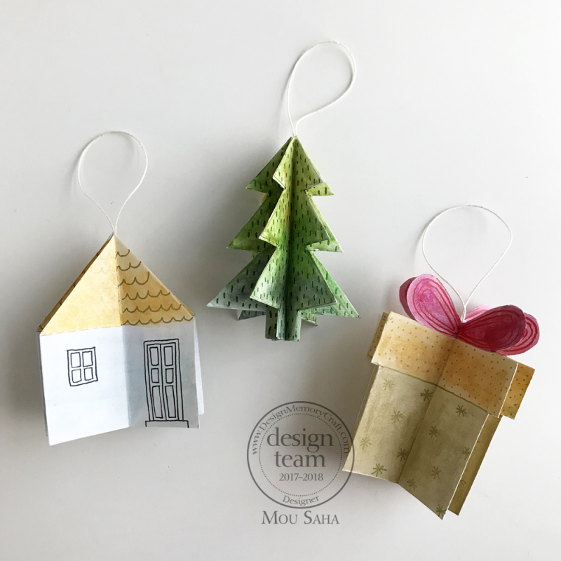 12-11-2017 Handmade Holiday Ornaments with Gelatos & Holiday PITT Pens - Mou Saha